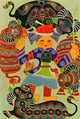 中国现代民间绘画画乡 黄平
