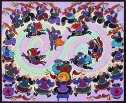 中国民间艺术之乡 温泉民间画 剑河